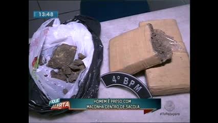 Um homem de 39 anos foi preso com maconha dentro de uma sacola em um coletivo