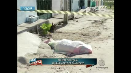 A policia começou apurar a morte de um candidato a vereador em Teotônio Vilela