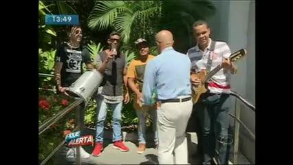 A banda # Samba faz lançamento no Fique Alerta