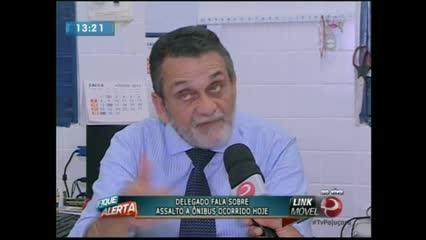 Delegado Nivaldo Aleixo fala sobre as investigações de quadrilhas que assaltes de ônibus
