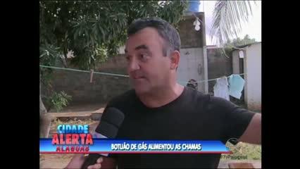 Em Marechal Deodoro, um botijão de gás destruiu parte da cozinha de uma residência