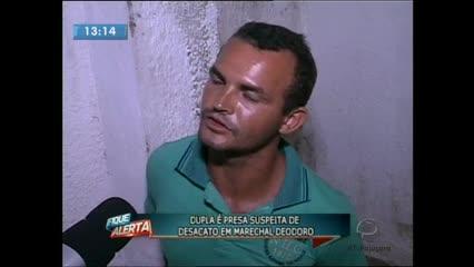 Dois homens foram presos suspeitos de desacatar guardas municipais em Marechal Deodoro