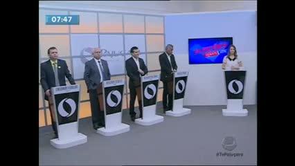 A TV Pajuçara realizou debate entre candidatos a prefeito de Arapiraca
