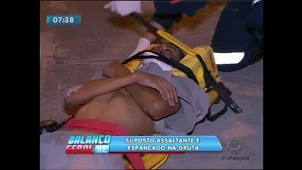 Suspeito de tentar cometer assaltos na Gruta de Lourdes foi espancado