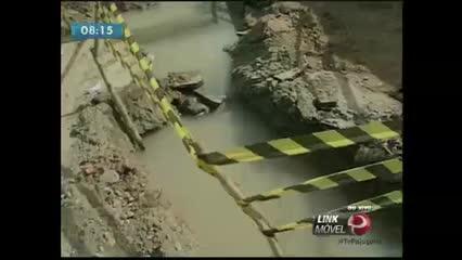 Vazamento provoca falta de água na Chã da Jaqueira