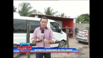 Um motorista de transporte complementar foi assassinado a tiros em Feira Grande