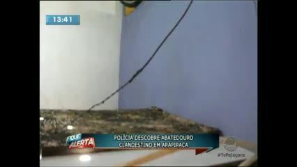 A polícia descobriu um abatedouro clandestino em Arapiraca