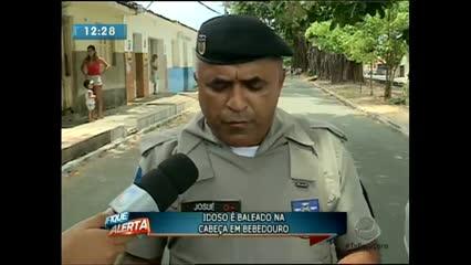 Um idoso foi baleado na cabeça em Bebedouro na manhã desta sexta-feira