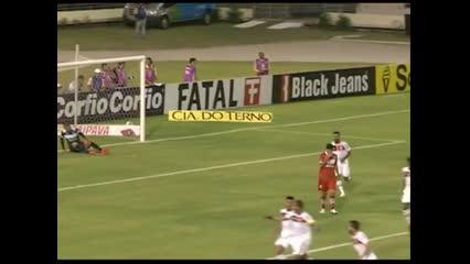 De falta, Jael abriu o marcador no Estádio Rei Pelé - CRB x Joinville