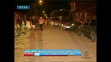 Duas pessoas foram baleadas no Conjunto Lucila Toledo