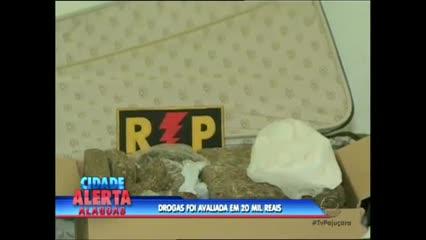 A policia fez uma apreensão de drogas nesta quinta-feira, no Benedito Bentes