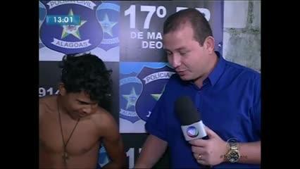 """O vulgo """"Mata Marido"""" foi preso suspeito de degolar homem em Marechal Deodoro"""