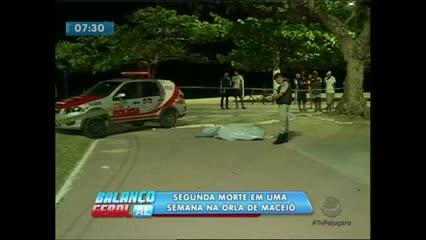 Um homem foi assassinado na Orla de Pajuçara ao lado da Feirinha do Artesanato