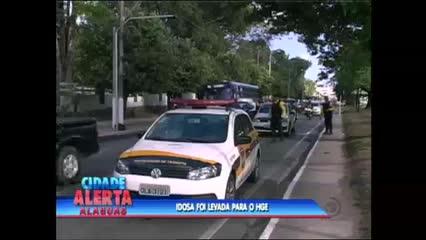 Idosa foi atropelada na Avenida Fernandes Lima