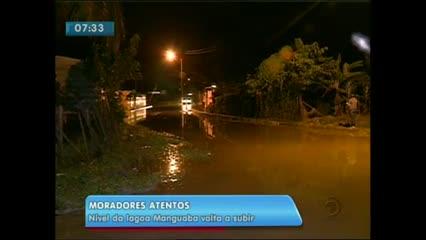 Nível de lagoa volta a subir e assusta moradores do Pilar