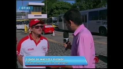 Rodoviários das empresas Piedade e Cidade de Maceió atrasam a saída dos coletivos