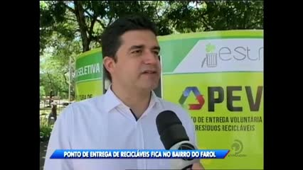 O prefeito Rui Palmeira inaugurou ponto de entrega de material reciclável na Praça Centenário