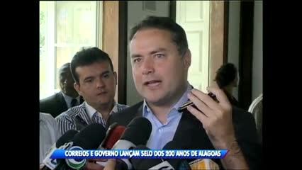 Governo e Correios lançaram selo em comemoração aos 200 anos de Alagoas