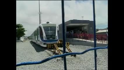 A nova estação do VLT no Jaraguá começou a funcionar em fase de teste