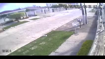 Imagens mostram momento exato de tremor no Pinheiro