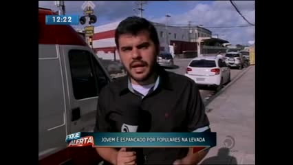 Suspeito de assalto foi espancado por populares na Levada