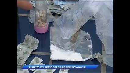 Homem foi preso acusado de tráfico de drogas