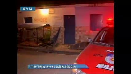 Um homem foi assassinado ontem à noite no Cleto Marques Luz