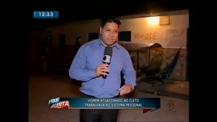 Homem foi assassinado ontem à noite no Cleto Marques Luz
