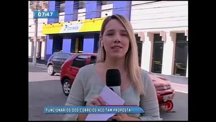 Funcionários dos Correios aceitam proposta de reajuste salarial