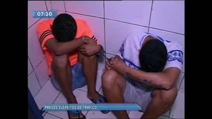 Dupla foi presa suspeita de tráfico de drogas