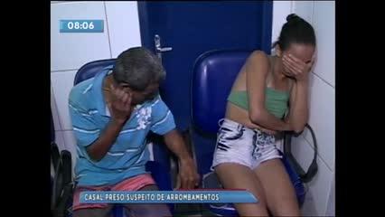 Casal foi preso acusado de arrombar casas de veraneio na Barra de São Miguel