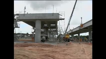 Obras do viaduto da PRF estão avançadas