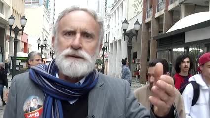 Candidato do PT, Dr. Rosinha é alvo de bomba no Centro de Curitiba