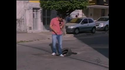 Moradores reclamam de buraco em rua na Ponta da Terra