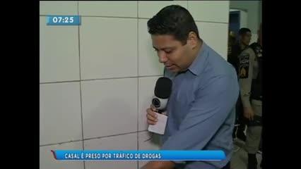 Casal foi preso acusado de tráfico de drogas na Barra de Santo Antônio