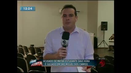 Acusado de matar Davi Hora é julgado em São Miguel dos Campos