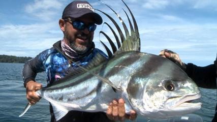 Pesca de arremesso pela primeira vez