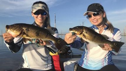Pesca feminina no Lago Balbina