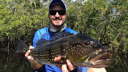 Pescaria de tucunarés no rio Itapará