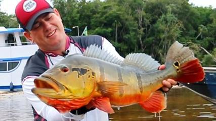 Maicon Bianchi e sua paixão pela pesca de tucunarés