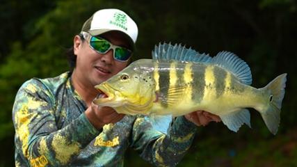 O embaixador da pesca esportiva