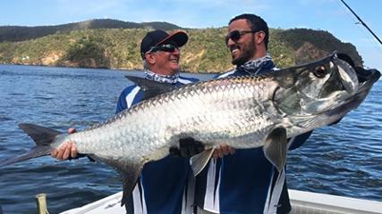 Muita ação na pesca dos tarpons