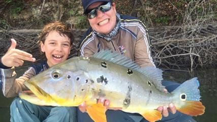 Pescaria em família no rio Sucundurí