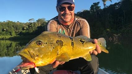 Pesca de tucunarés no Teles Pires com João Bosco