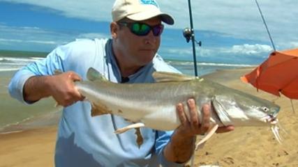 Pescaria na Trilha do Pescador em Itaúnas