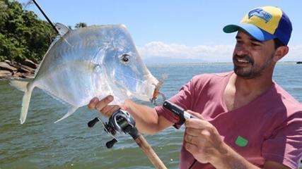 Pescaria variada com camarão artificial