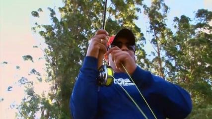 Pescaria de fly e isca natural