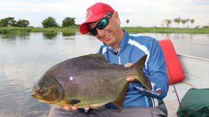 Primeiro dia de pesca no Pantanal