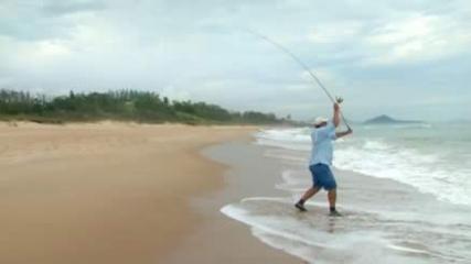 Equipamento para pesca de praia e arraia-viola no anzol