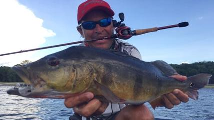Pescaria de tucunarés nos rios Negro e Caieiras